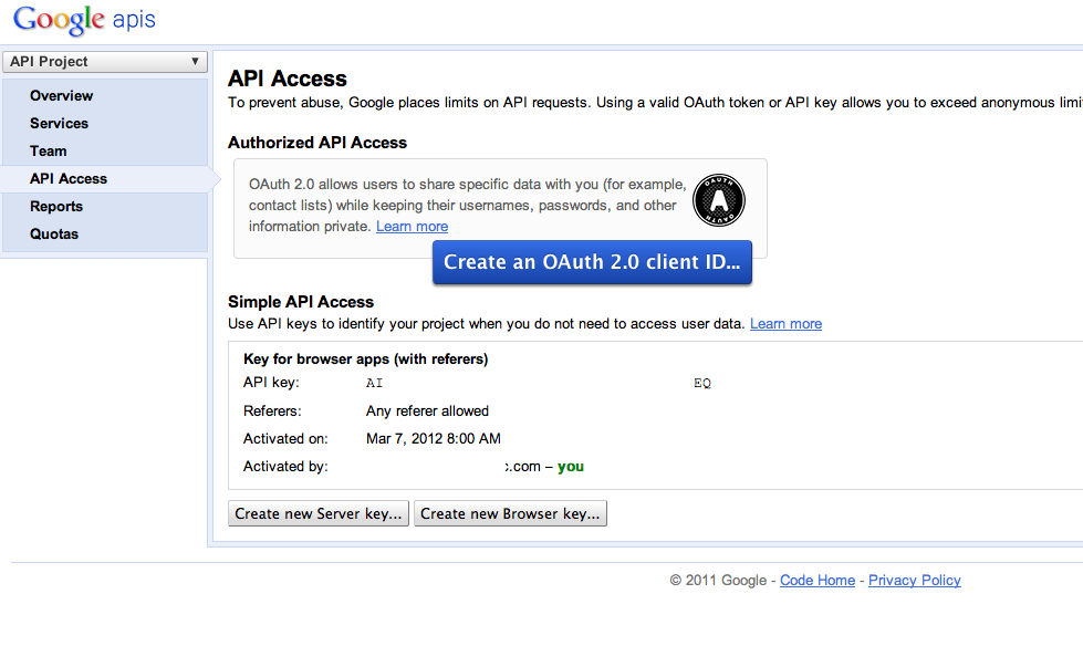 Google Client API with PHP – step by step tutorial with