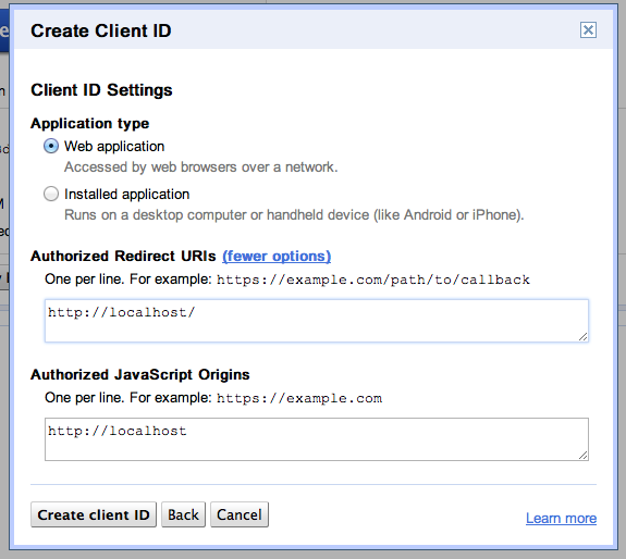 Google Client API with PHP – step by step tutorial with (some